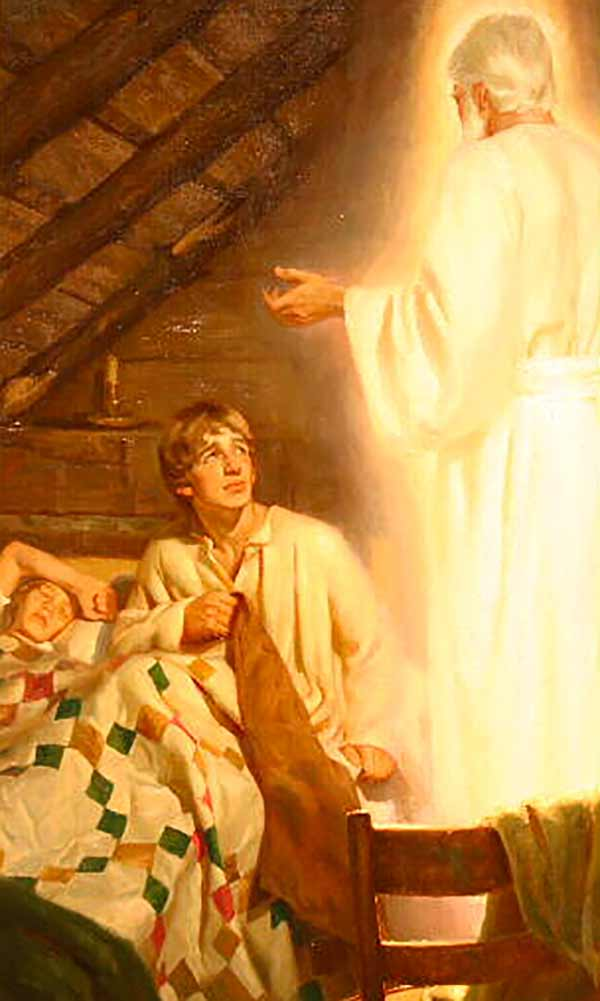 Joseph Smith with the Angel Moroni