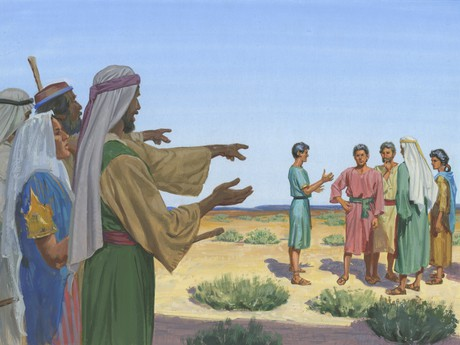 Laman and Lemuel angry at Nephi
