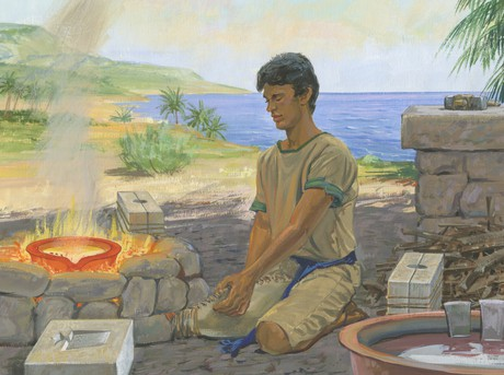 Nephi making tools