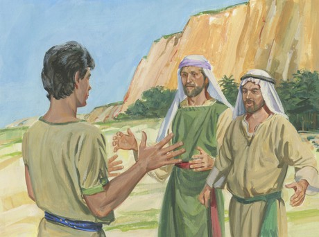 Laman and Lemuel want to throw Nephi into sea