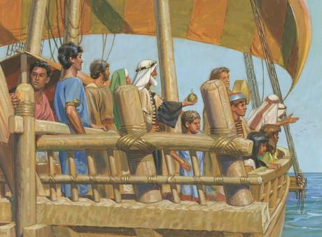 Nephi steering ship