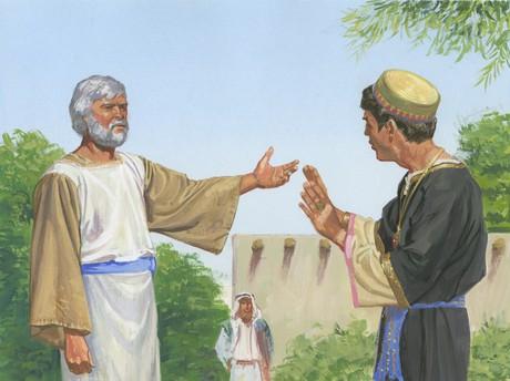 Jacob testifying to Sherem