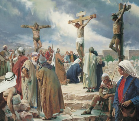 Jesus being crucified