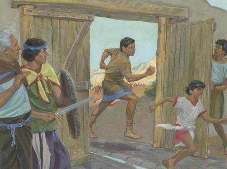 Nephites running
