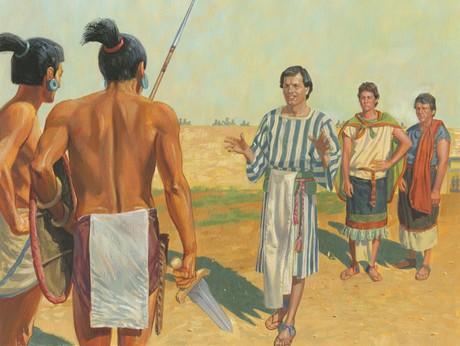 Alma talking to Lamanites