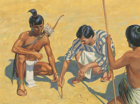 Alma showing Lamanites way home