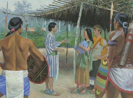 Lamanites guarding Alma's people
