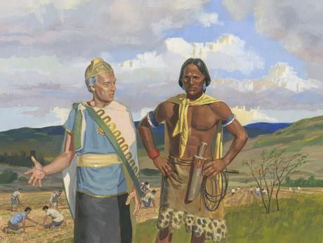 Amulon talking with Lamanite guard