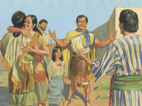 King Mosiah welcoming Alma