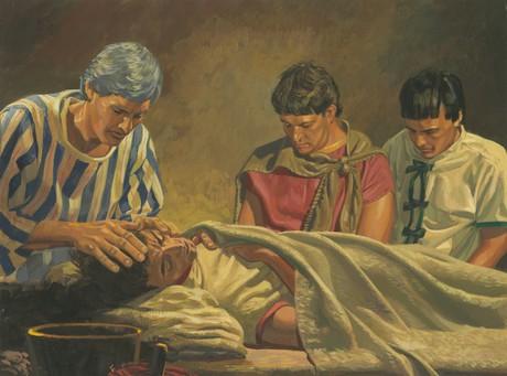Alma blessing his son