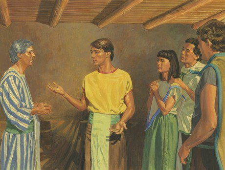 Alma the Younger speaking to his father