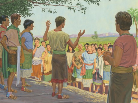Alma the Younger teaching people