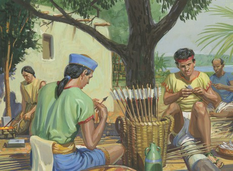 Nephites making arrows