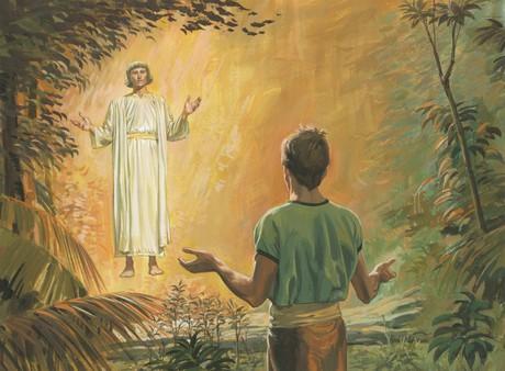 angel talking to Alma
