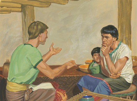Alma and Amulek talking