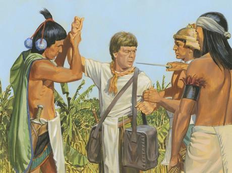 Ammon being captured
