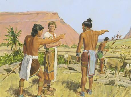 Ammon talking to servants