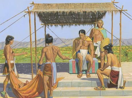 servants talking to king