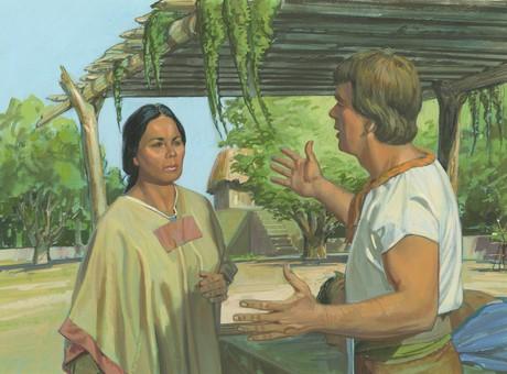 Ammon talking to queen