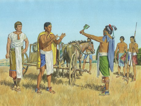 Lamoni, Ammon, and Lamoni's father