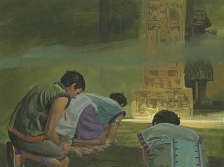 Zoramites worshipping idols