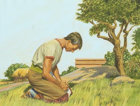 Alma praying