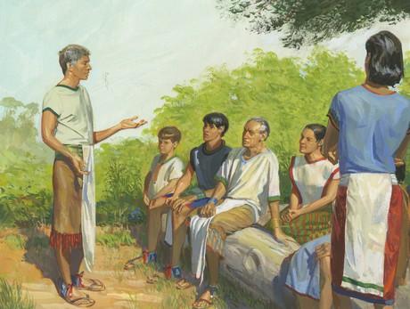 Alma teaching Zoramites