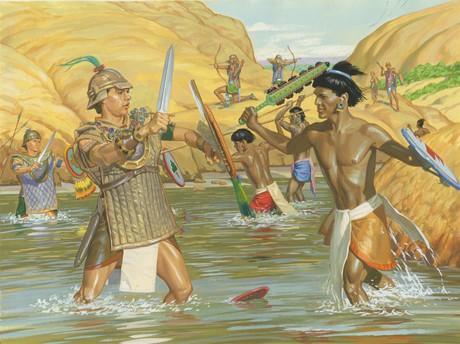 battle in river