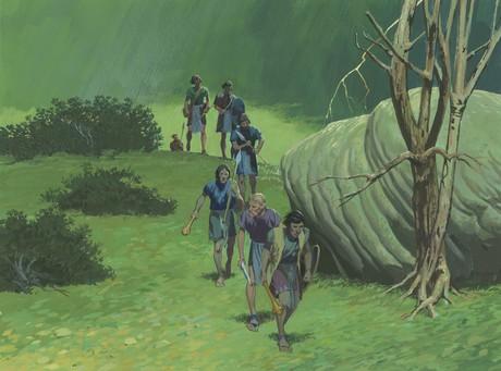 Amalickiah and followers running away