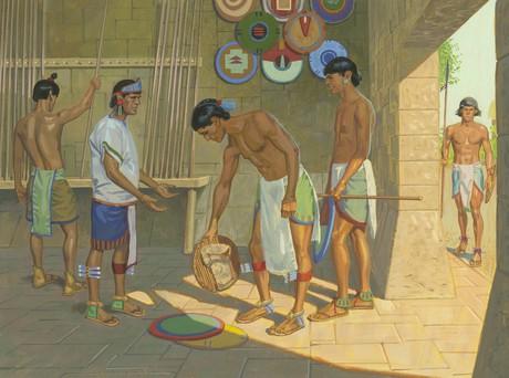 Lamanites putting away weapons