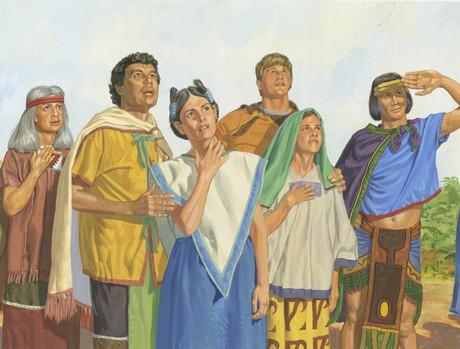 Nephites listening to Nephi