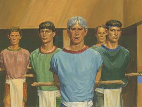 five men bound