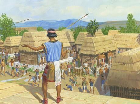 people shooting arrows at Samuel