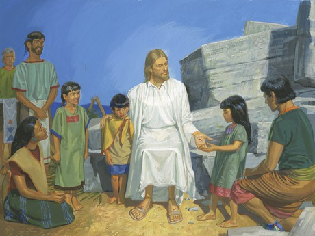 Jesus sitting with children