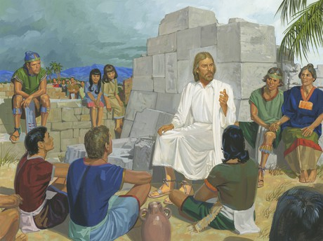 Jesus teaching people