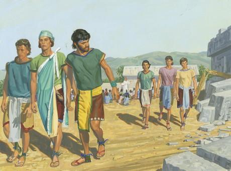 group of men walking