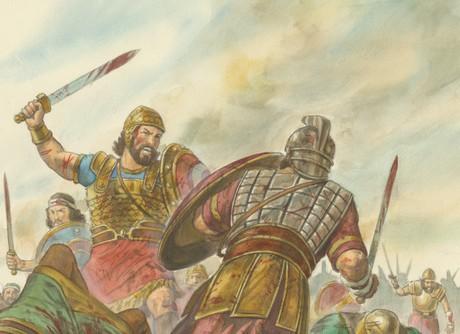 Coriantumr and Shiz fighting