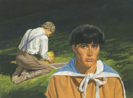Moroni seeing Joseph Smith