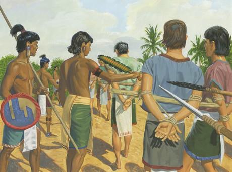 Lamanites capturing Nephites