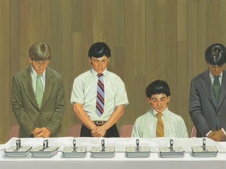 young men blessing sacrament