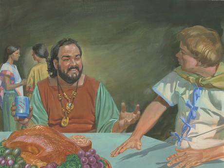 Noah sitting at dinner table