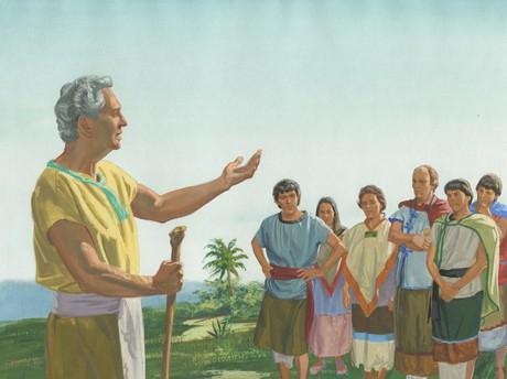 Abinadi preaching repentence