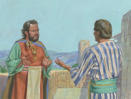 Alma talking to King Noah