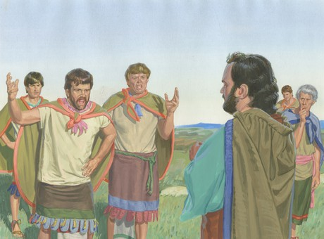 men angry with Noah
