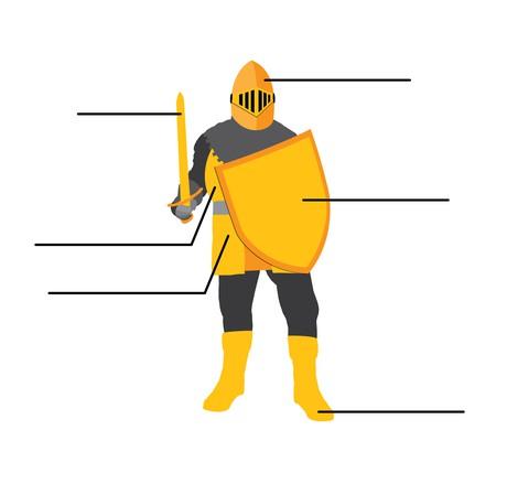person in armor