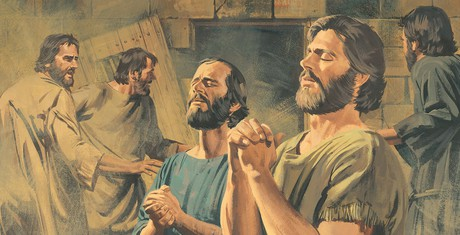 That Night Paul And Silas Prayed Sang Hymns To Heavenly Father Everyone In The Prison Heard Them Suddenly Ground Began Shake