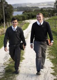 missionaries walking