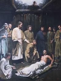 Jesus healing man