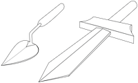 trowel and sword