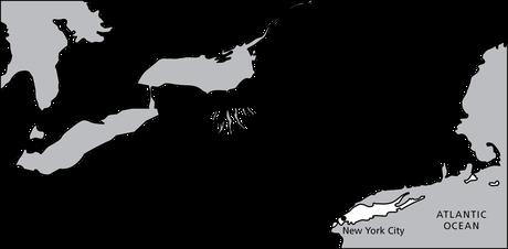 map, northeastern U.S.